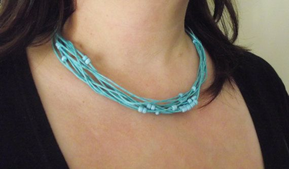 Necklace Cord with seed beads by MaryLooGifts on Etsy