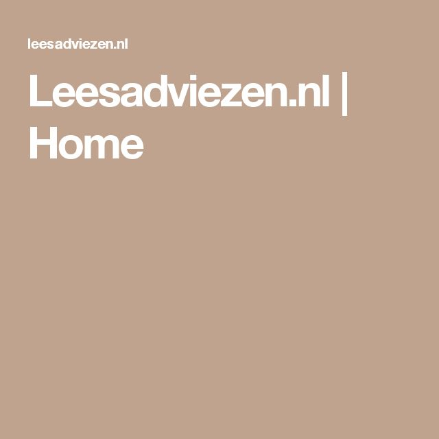 Leesadviezen.nl | Home