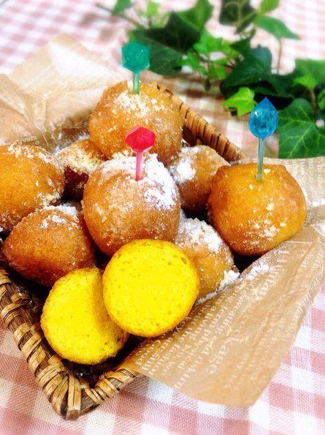 ハロウィンに♪簡単一口かぼちゃドーナツ☆ by monchan♪♪ [クックパッド] 簡単おいしいみんなのレシピが215万品