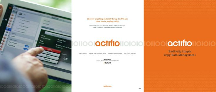 What Is Actifio? is radically simple copy data management. Our copy data storage solution is a purpose-built storage system designed to radically simplify the operations typically handled by siloed data management point tools including backup, snapshot, disaster recovery, business continuity, replication, deduplication, and WAN optimization.