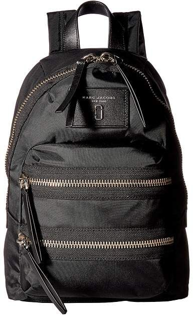 87e745a71d Marc Jacobs - Nylon Biker Mini Backpack color black with gold zippers and  external pockets