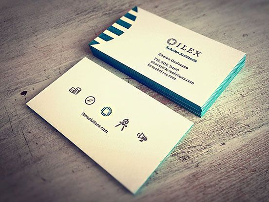 85 best business cards images on pinterest corporate identity currently browsing ilex letterpress business cards for your design inspiration reheart Images