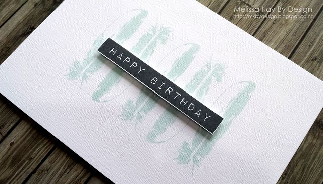 MELISSA KAY BY DESIGN FEATHERS, MASCULINE, FEATHER TOGETHER, STAMPIN' UP!, HAPPY BIRTHDAY