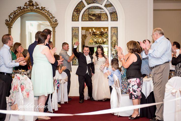An amazing reception entrance! Jacqueline & Jim at Ascot House receptions