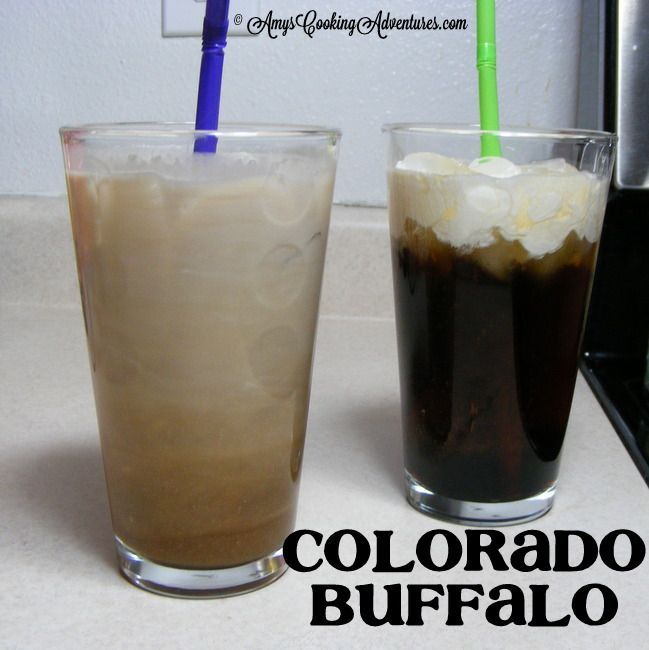 Colorado Buffalo drink: Vanilla vodka, spiced rum, kahlua, cream, coke. Sounds like the best drink ever