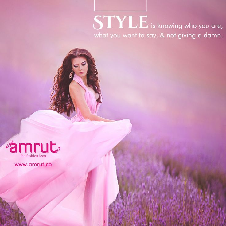 """""""#Style is knowing who you are, what you want to say, and not giving a damn.""""  -Orson Welles  Be with Amrut - The Fashion Icon and feel the fashion!!!  www.amrut.co #FashionWorld #FashionInIndia"""