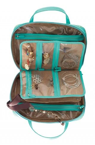 Awesome jewelry travel case!!  Love how it keeps my necklaces from getting tangled!!  The jewelry roll is equally as awesome for trips where you don't need to bring as much :)