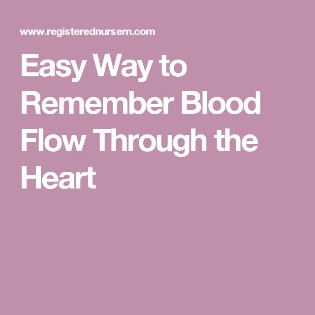 Easy Way to Remember Blood Flow Through the Heart   Pre ...