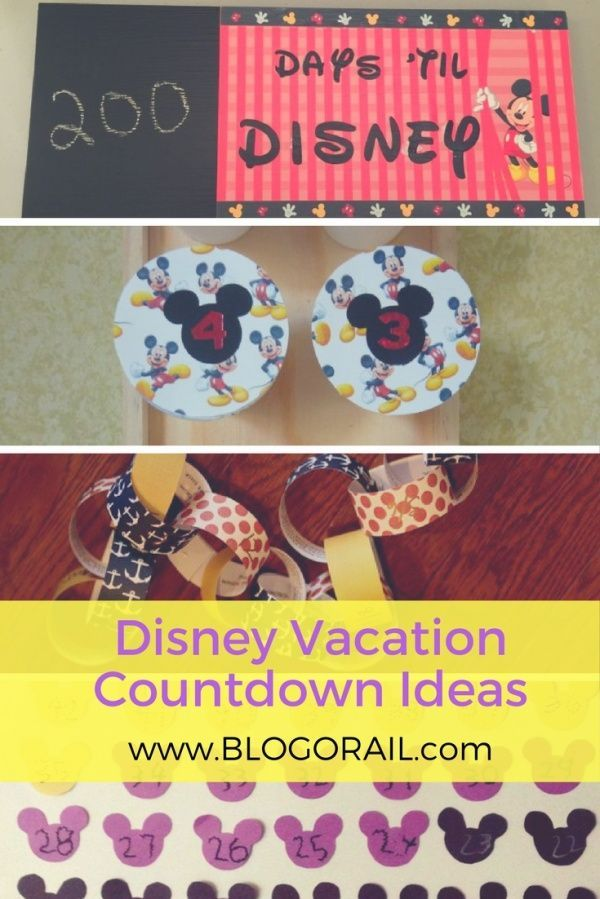 Disney Vacation Countdown Ideas | Creative and easy DIY craft ideas - chains, calendars, and more for your Walt Disney World or Disneyland vacation