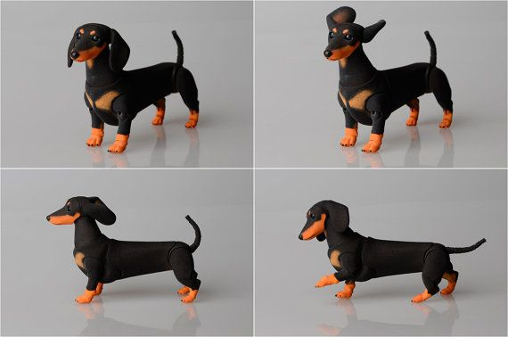 BJD dog dachshund. by ElleoDolls on Etsy