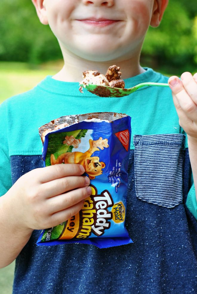 """Learn how to make the sweet version of """"walking tacos"""" with these """"less mess s'mores""""!"""
