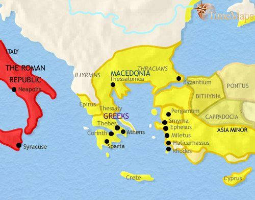 Map Of Greece And The Balkans At 200bce The Benders And The