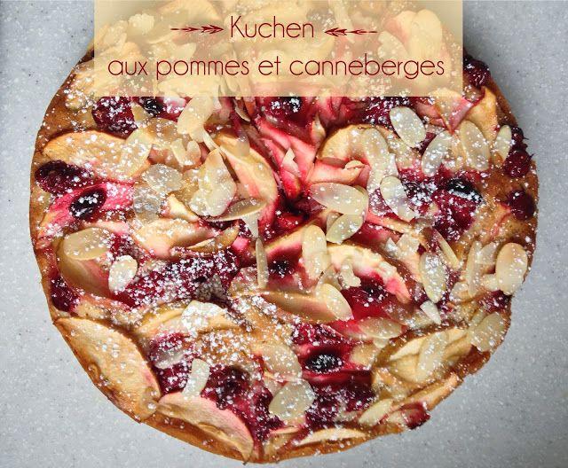 Apple and Cranberry Kuchen | Kuchen aux Pommes & Canneberges  — PasDeLaTarte.Ca