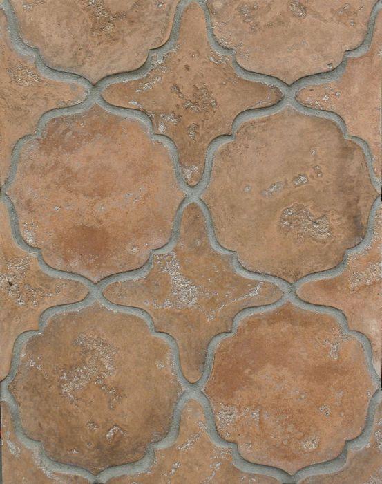 BB13 Arabesque Pattern 13 Spanish Cotto Limestone