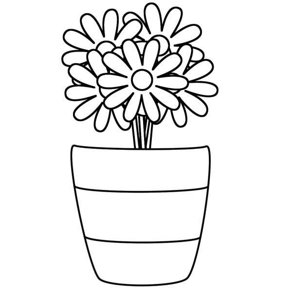 Vasos De Flores Para Imrprimir 5 Em 2020 Paginas Para Colorir