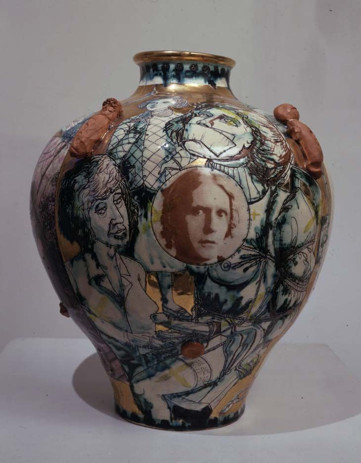 Grayson Perry, ceramic,vase, autobiography, tension