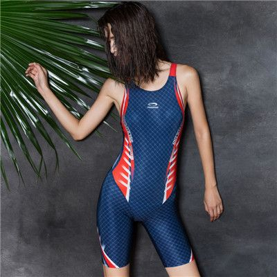 New Sexy Sport Suits One Piece Swimsuits Pool Training Professional Sports Full Brief Boxer Deep Blue Bodysuit