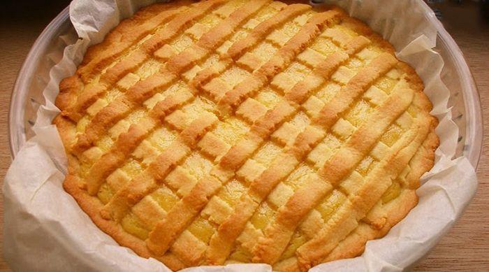 Непревзойденный лимонный пирог из песочного теста