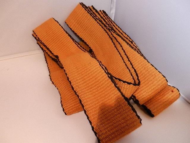 Hand woven wool Viking leggings.