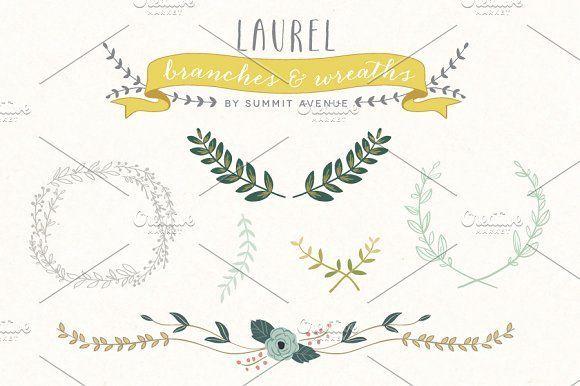 Vintage Laurel & Wreath designs by Summit Avenue on @creativemarket
