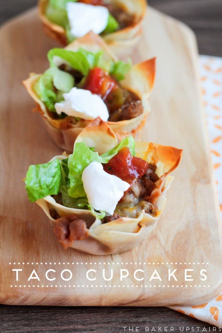 Taco cupcakes - a fun and tasty twist on an old favorite! www.thebakerupstairs.com