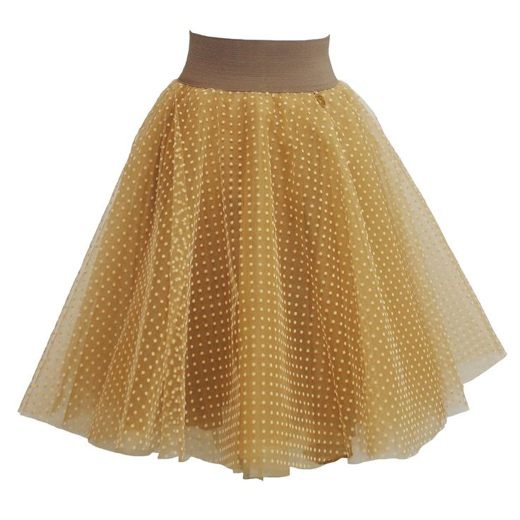 Fairy-tale beige polka dot skirt $120€