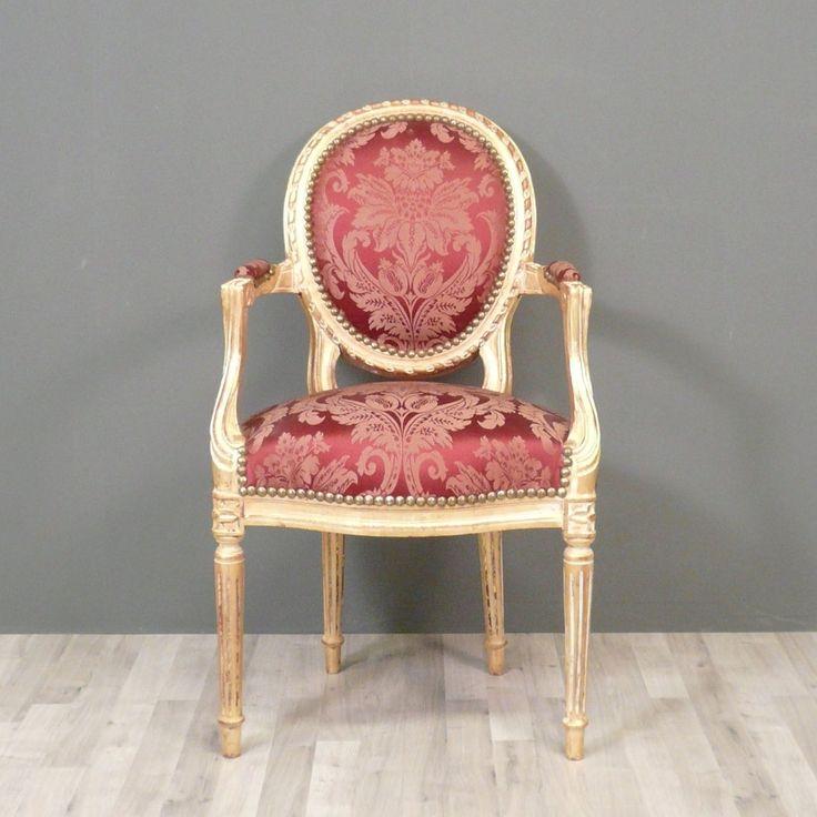 Fauteuil Louis XVI médaillon