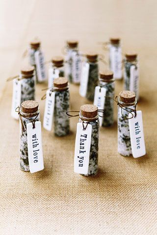 Bath Salt Favours - this could be a wonderful thank you for a wedding