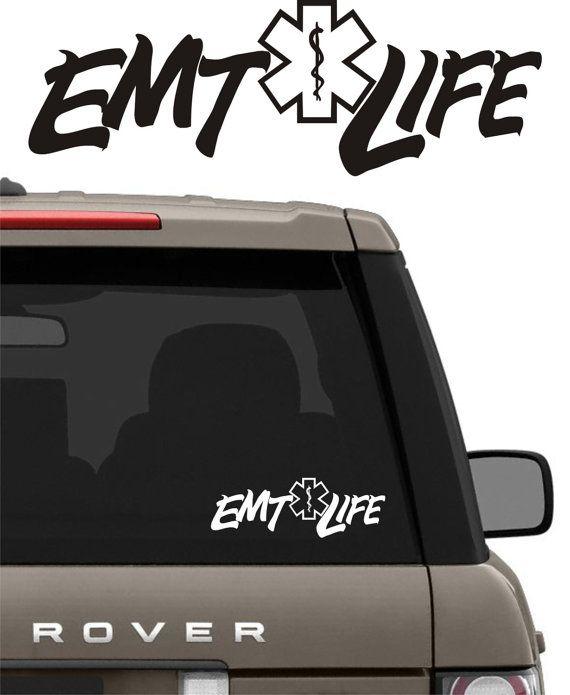 Emt life vinyl decal graphic sticker for boatcartrucksuvvan