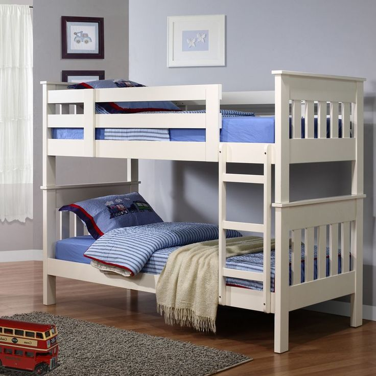Charming Picture Of Bunk Beds Using White Blue Design And