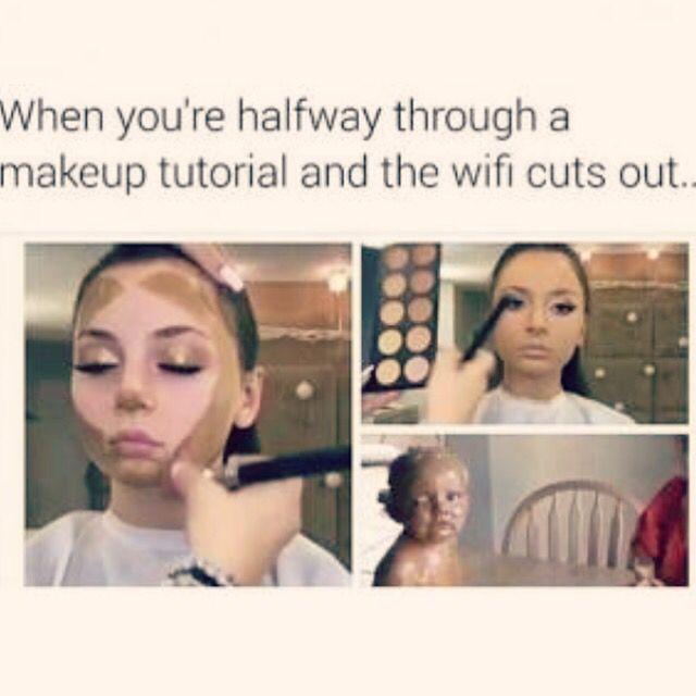 Sunday Funday!! Anyone experience this before?! Lol makeupaddictstash.com #mascara #makeup on #fleek #try #love #younique #beauty #lashes #falsies #mommy #mua #ladies #blogger #youniqueproducts #lashcrack #makeupaddict #stash #sunday #funday #haha #lol #tuturial #wifi