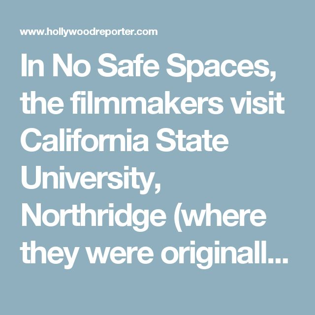 "In No Safe Spaces, the filmmakers visit California State University, Northridge (where they were originally rebuffed) and accompany Ann Coulter on her April visit to U.C. Berkeley, where she wasn't allowed to speak due to threats of violence.  Now, though, the filmmakers are looking to raise $500,000, which will then be matched by another $500,000 from Dangerous Documentaries, the movie production arm of the Capital Research Center, which calls itself an ""investigative think tank.""  No Safe…"