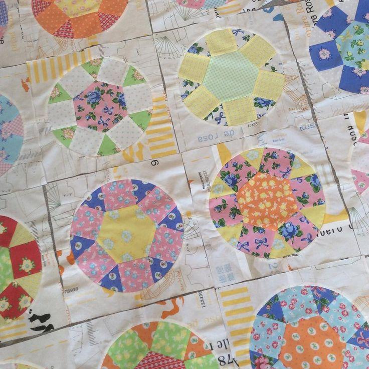 Still loving this collection of fabrics 😃 #firstblushfabric #windhamfabrics #patchworkquilt almost a #scrapquilt