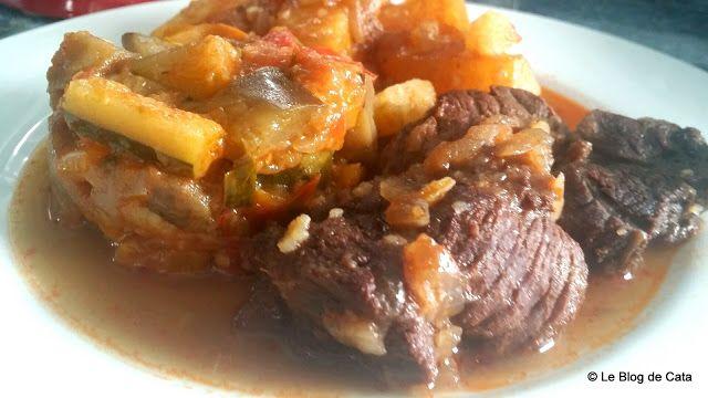 Boeuf bourguignon aux oignons et pommes de terre