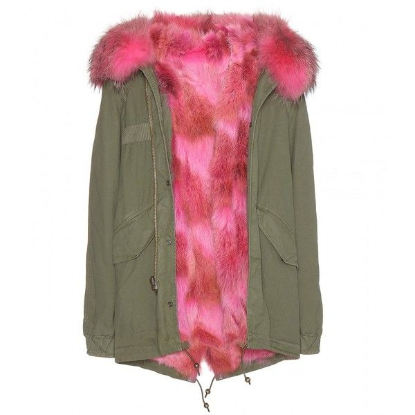 Mr & Mrs Italy Fur-Lined Parka-Style Jacket ($5,005) ❤ liked on Polyvore featuring outerwear, jackets, green, fur lined parka, green parka jacket, parka jacket, green jacket and green parka