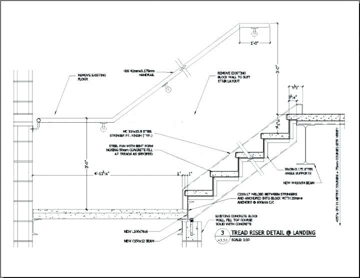 Stair Drawings Staircase Staircase Detail Dwg Free Download