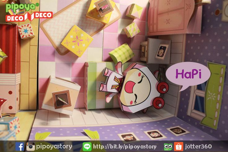 Sweet room for a cute little hamster girl :3 Papertoy PiPoYa cute Gift and craft