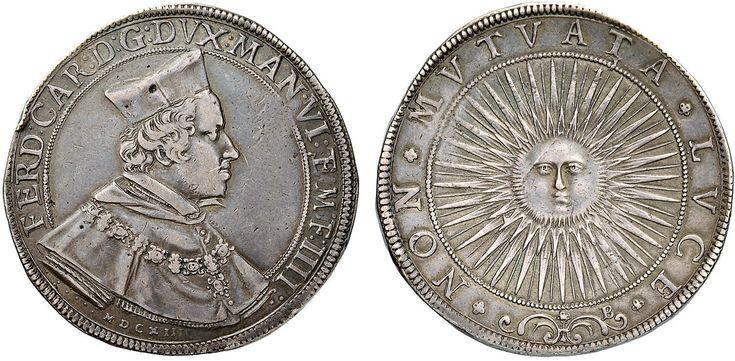 NumisBids: Nomisma Spa Auction 50, Lot 117 : MANTOVA Ferdinando Gonzaga (1612-1626) Ducatone 1614 – MIR 590/2 AG...