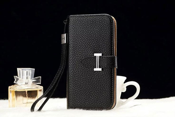 Leather hermes Galaxy Note 5 Edge Wallet Case Black