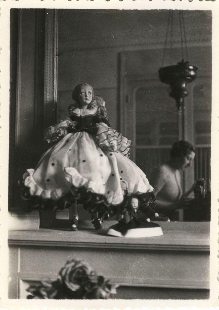 Photo ancienne vintage snapshot poup e photographe for Autoportrait miroir