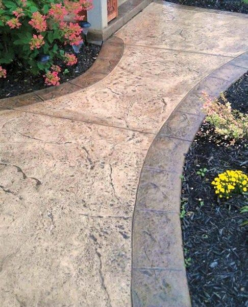 25 best ideas about stamped concrete walkway on pinterest - Stamped concrete walkway ideas ...