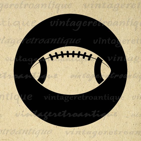 Printable Image Football Graphic Football by VintageRetroAntique