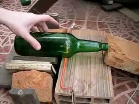 Cortar botella de vidrio - Método fácil y rápido (Cut glass bottle - easy and quick way) - YouTube