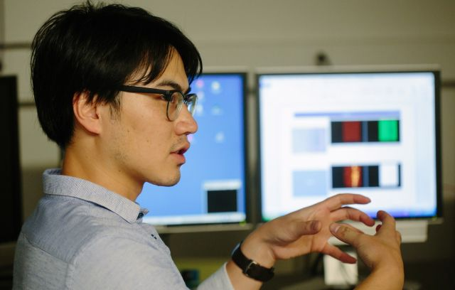 Lehigh mechanical engineering Ph.D. candidate Guosong Zeng is one of four Lehigh engineers that have reported a previously unknown property for GaN: Its wear resistance approaches that of diamonds and promises to open up applications in touch screens, space vehicles and radio-frequency microelectromechanical systems (RF MEMS), all of which require high-speed, high-vibration technology. #lehigh #engineering #lehighengineering #college #university #research #mechanical #engineering #