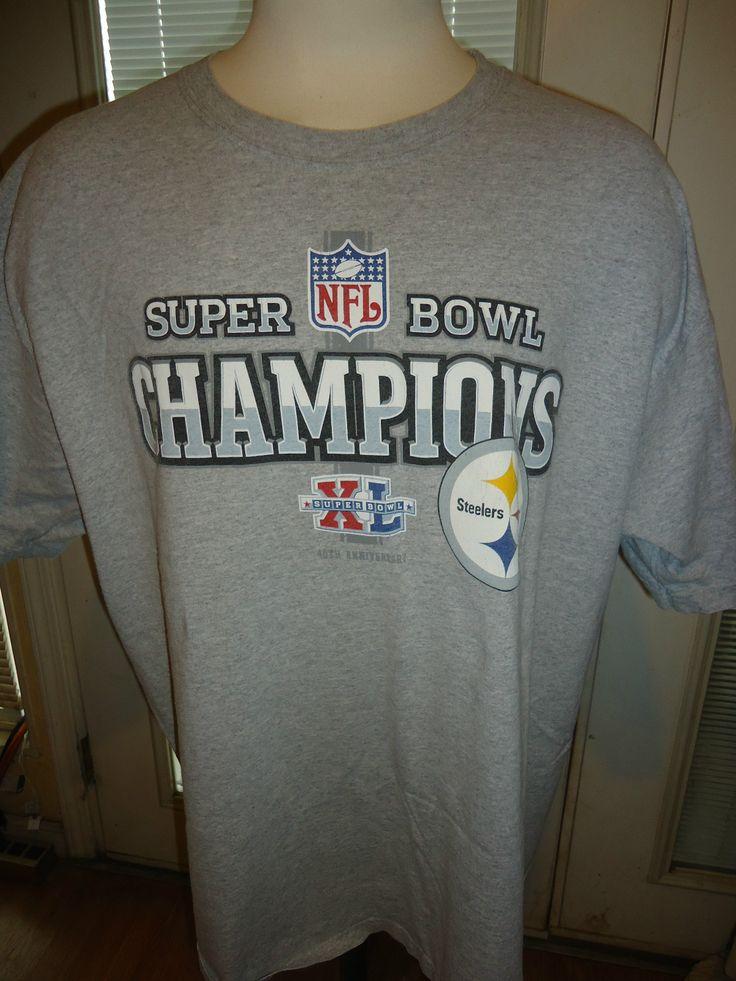 Mens Vintage Steelers Champion Super Bowl Xl T Shirt