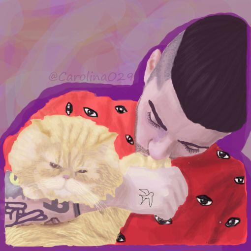 Digital Drawing of Zayn Malik.