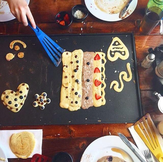 DIY Pancakes. Backwater Restaurant. Melbourne,Fl