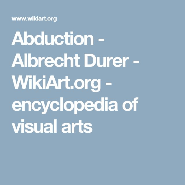 Abduction - Albrecht Durer - WikiArt.org - encyclopedia of visual arts
