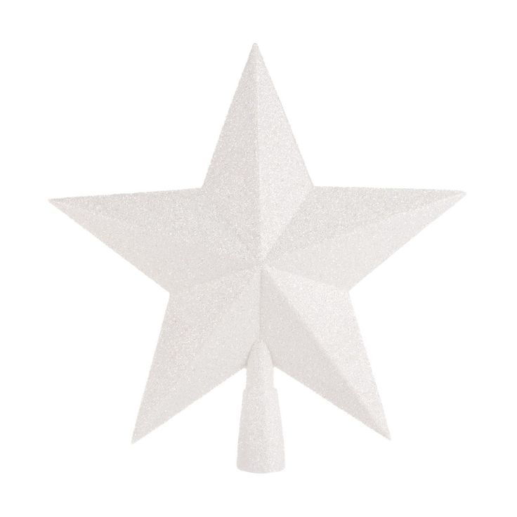 Decorative shatterproof glitter Christmas topper in the shape of a star | It's all about Christmas