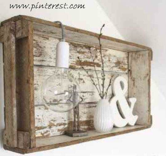 Cajas de madera en Decapé Blanco Shabby, paso a paso como hacer esta terminación.
